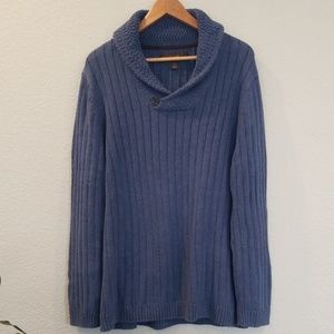 Light blue thick cotton sweater